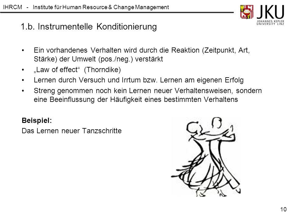 1.b. Instrumentelle Konditionierung
