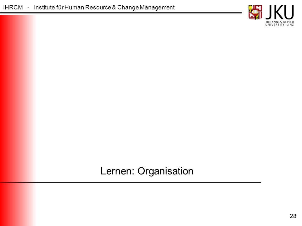 Lernen: Organisation
