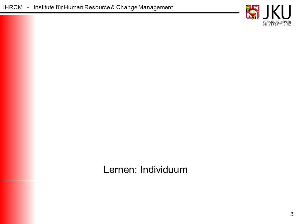 Lernen: Individuum