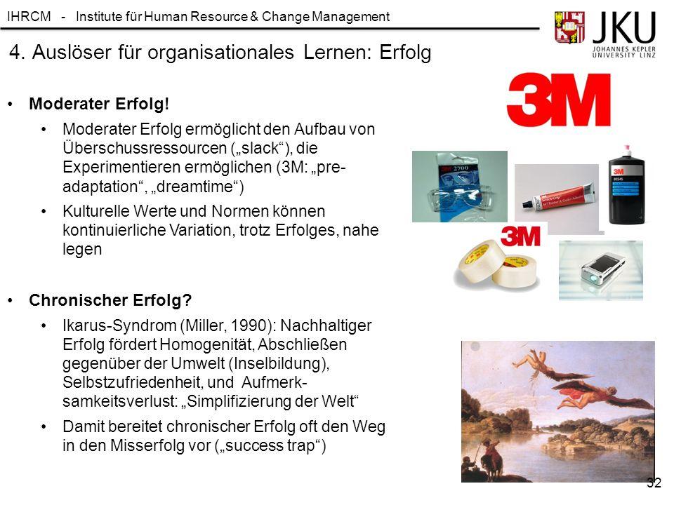 4. Auslöser für organisationales Lernen: Erfolg