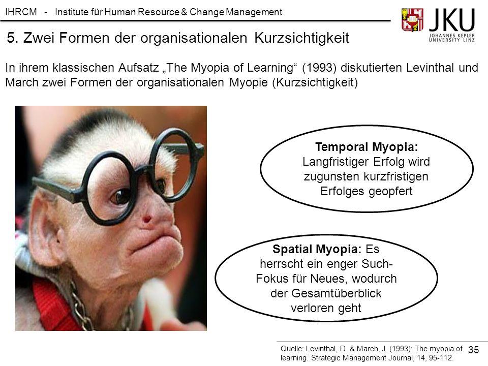 5. Zwei Formen der organisationalen Kurzsichtigkeit