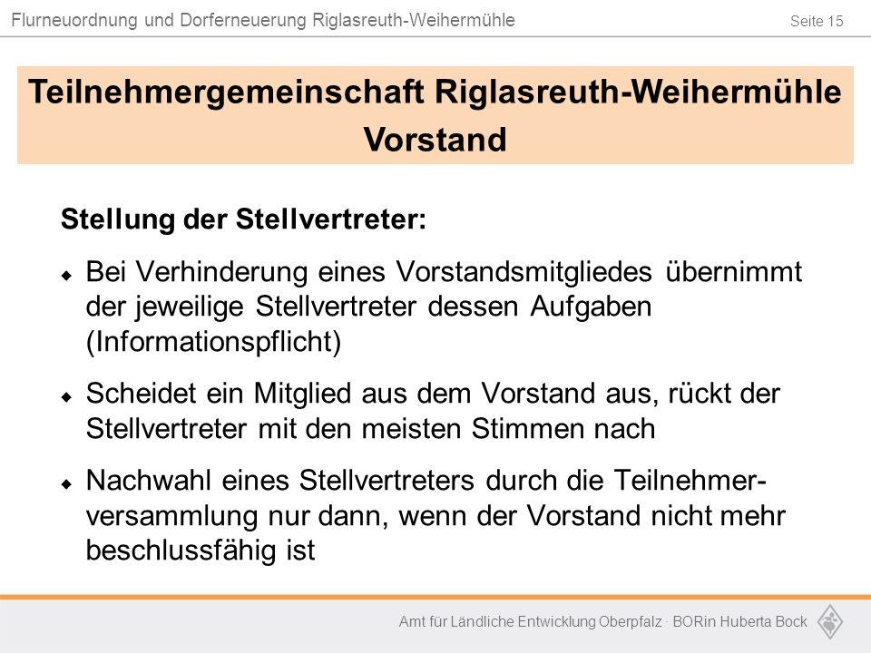 Teilnehmergemeinschaft Riglasreuth-Weihermühle
