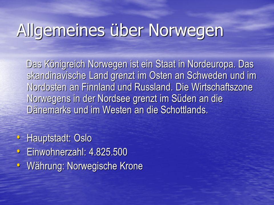 Allgemeines über Norwegen