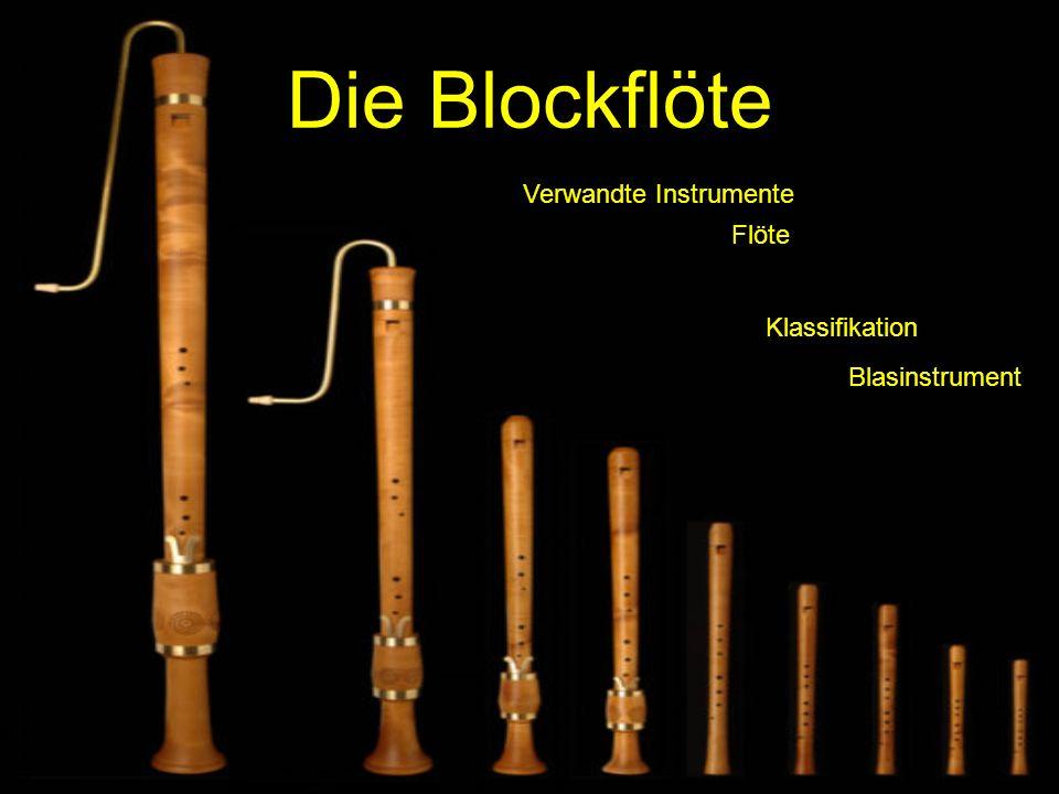 Die Blockflöte Verwandte Instrumente Flöte Klassifikation