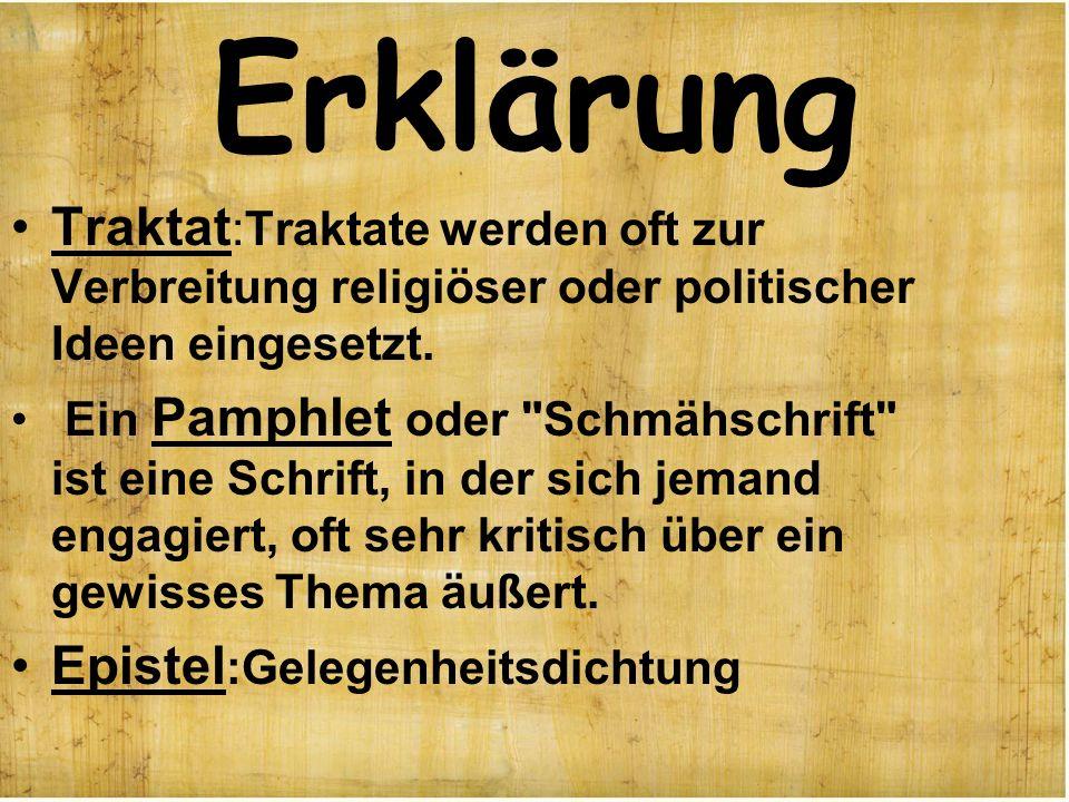 Erklärung Traktat:Traktate werden oft zur Verbreitung religiöser oder politischer Ideen eingesetzt.