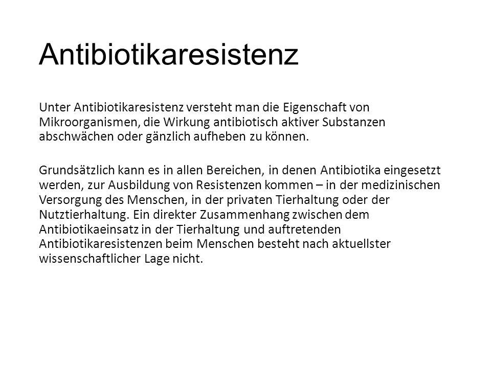Antibiotikaresistenz