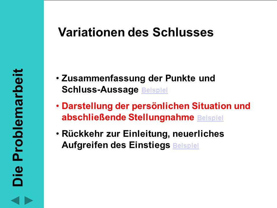 Lernmodul Deutsch Die Problemarbeit