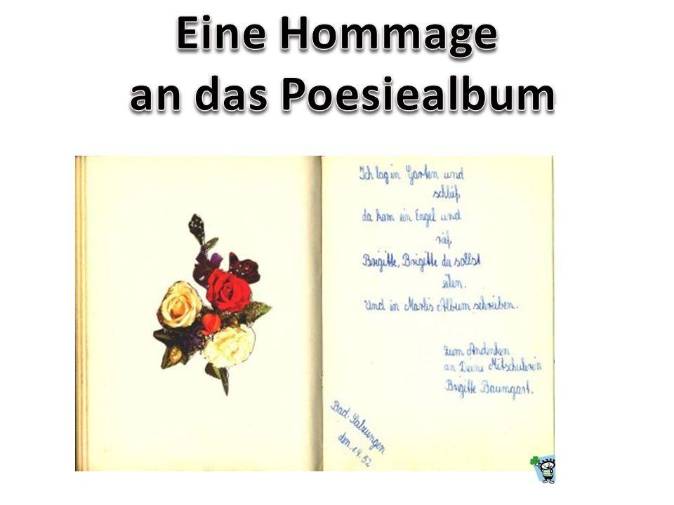 Eine Hommage an das Poesiealbum