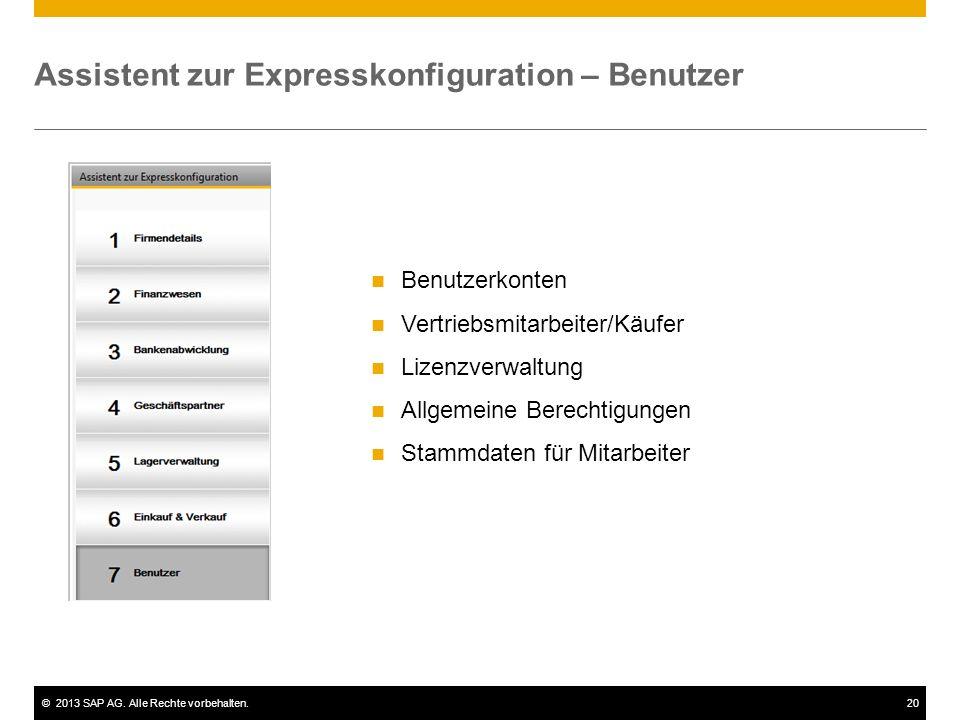Assistent zur Expresskonfiguration – Benutzer