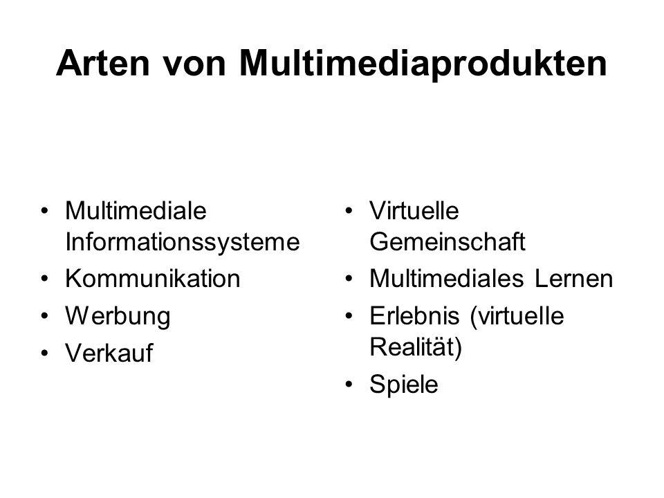Arten von Multimediaprodukten