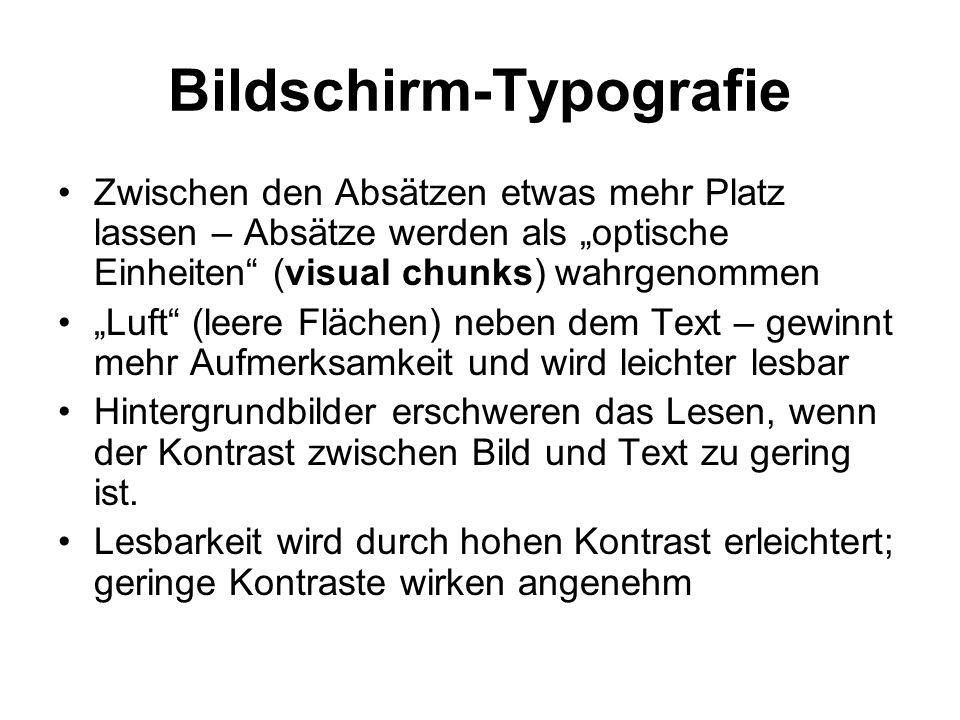 Bildschirm-Typografie