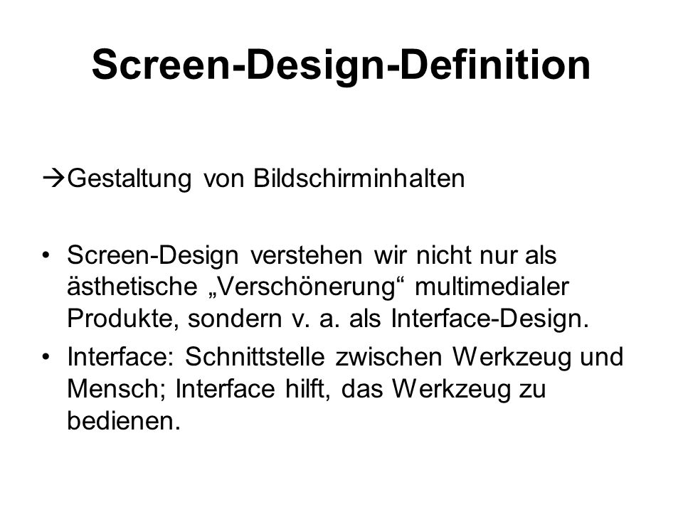 Screen-Design-Definition