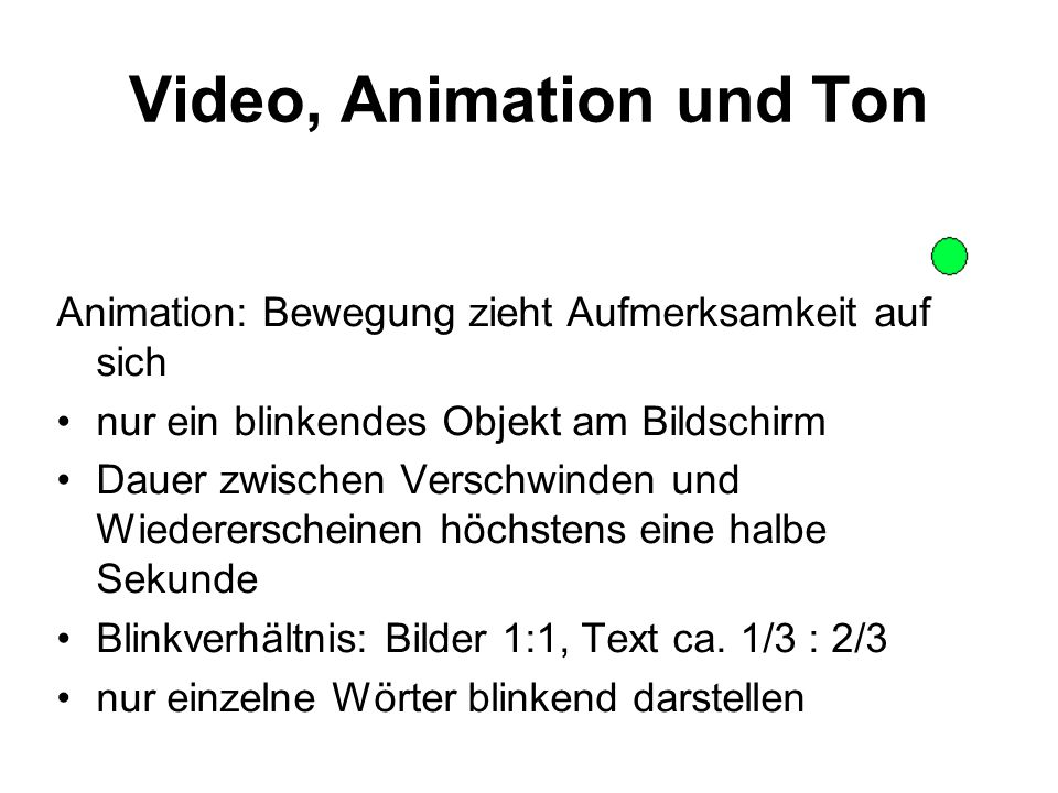 Video, Animation und Ton