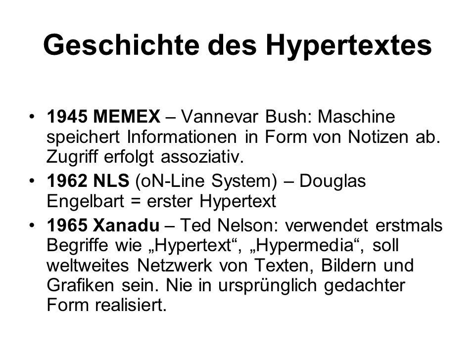 Geschichte des Hypertextes
