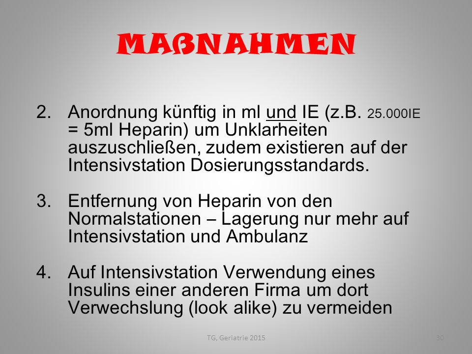 MAßNAHMEN