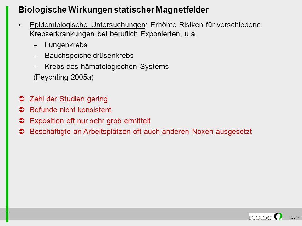Biologische Wirkungen statischer Magnetfelder