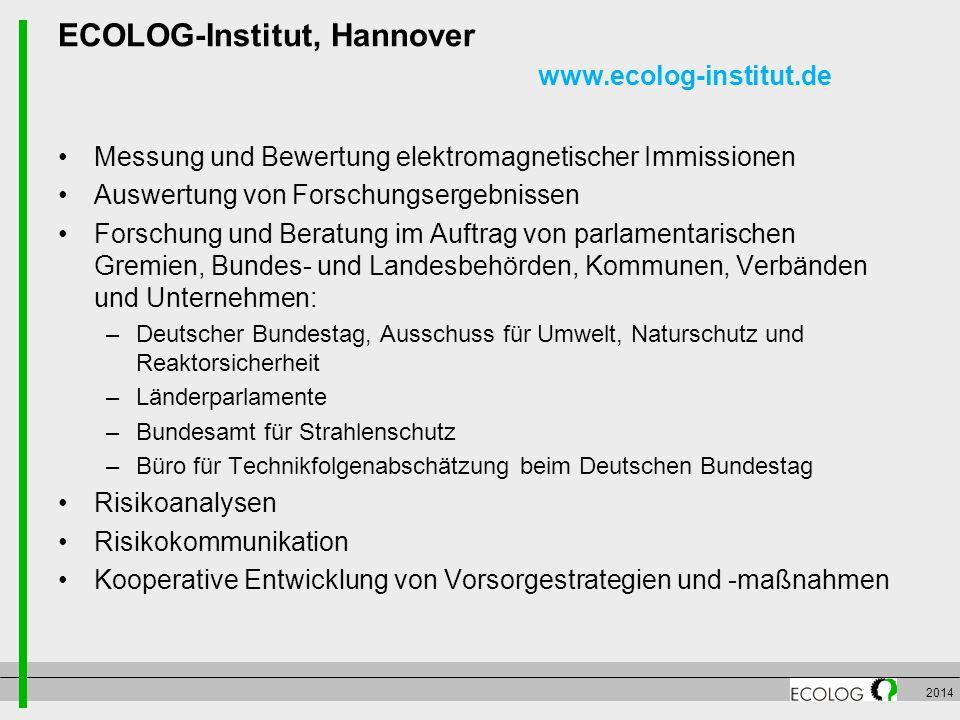 ECOLOG-Institut, Hannover www.ecolog-institut.de