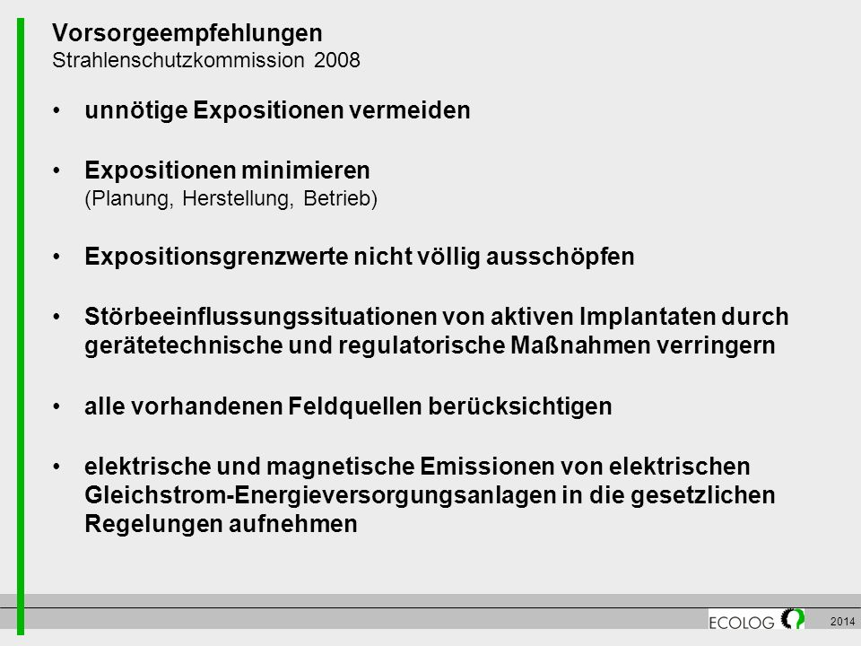Vorsorgeempfehlungen Strahlenschutzkommission 2008