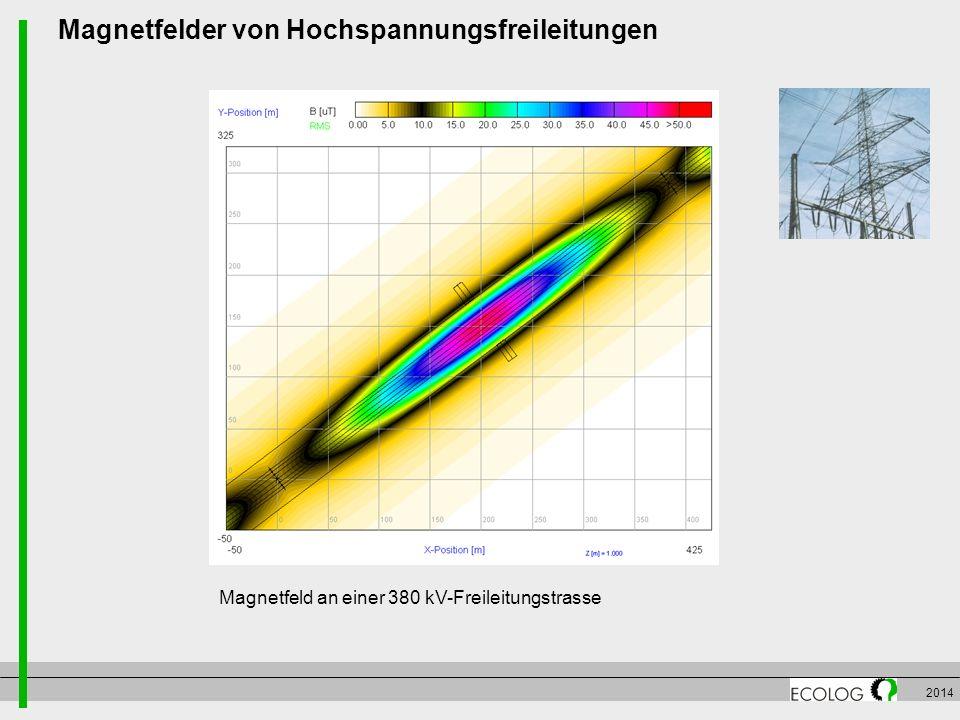 Magnetfelder von Hochspannungsfreileitungen