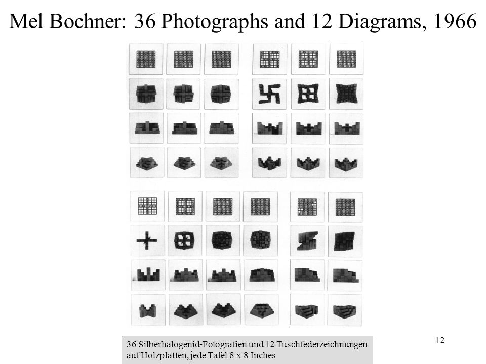 Mel Bochner: 36 Photographs and 12 Diagrams, 1966