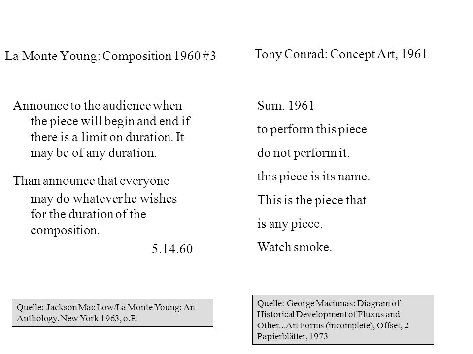 La Monte Young: Composition 1960 #3