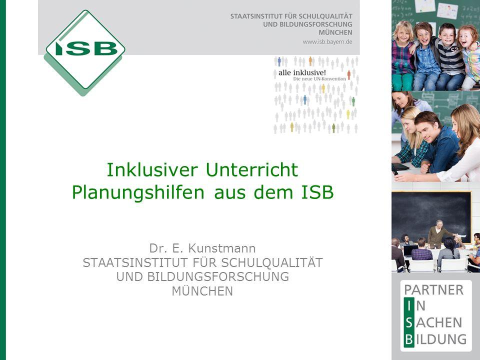Inklusiver Unterricht Planungshilfen aus dem ISB