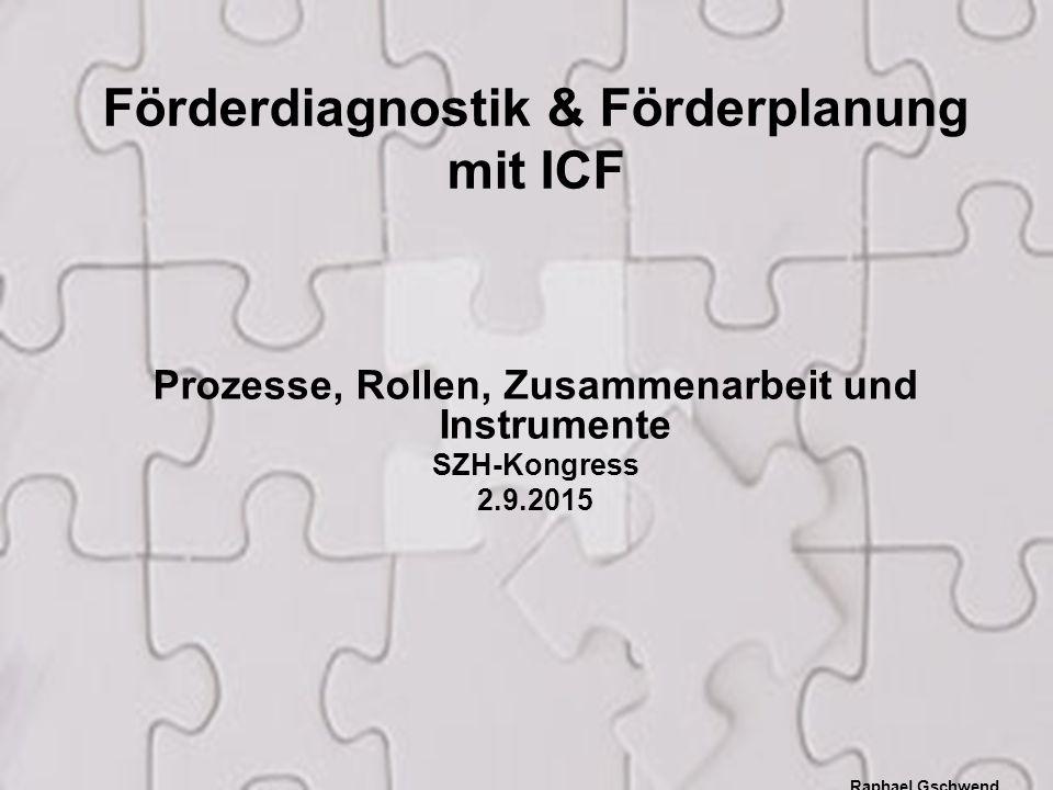 Förderdiagnostik & Förderplanung mit ICF