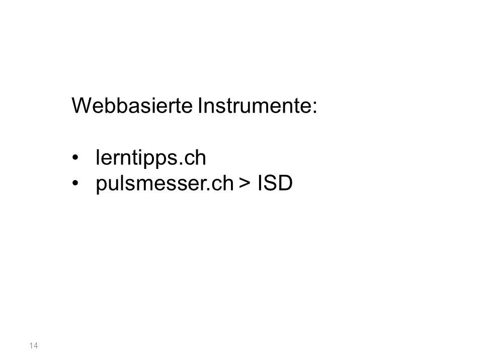 Webbasierte Instrumente: