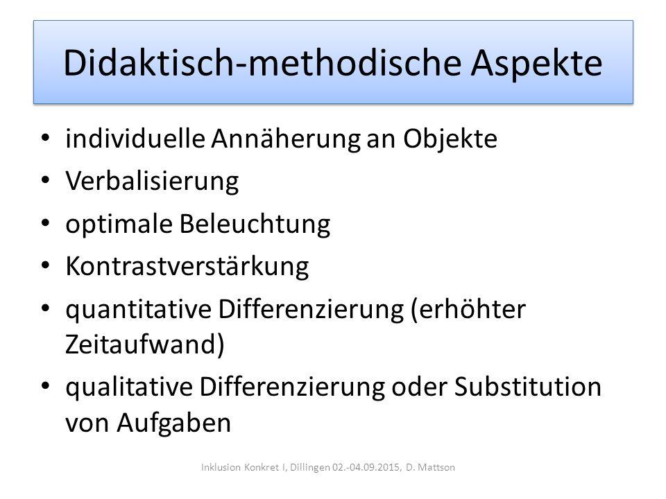 Didaktisch-methodische Aspekte