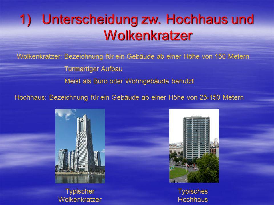 Unterscheidung zw. Hochhaus und Wolkenkratzer
