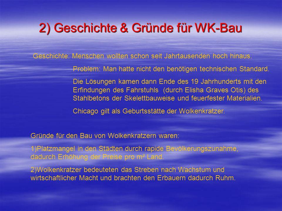 2) Geschichte & Gründe für WK-Bau
