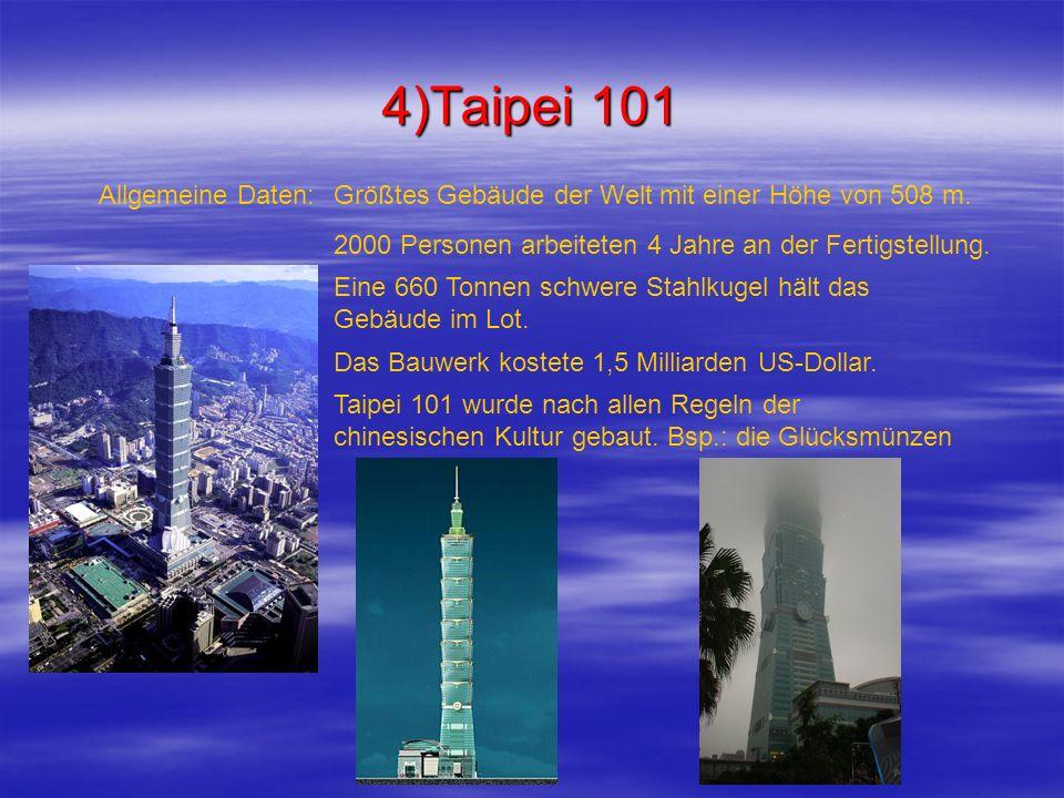 4)Taipei 101 Allgemeine Daten: