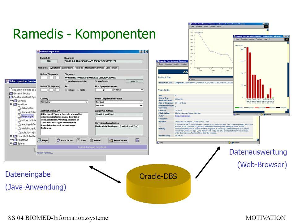 Ramedis - Komponenten Datenauswertung (Web-Browser) Dateneingabe