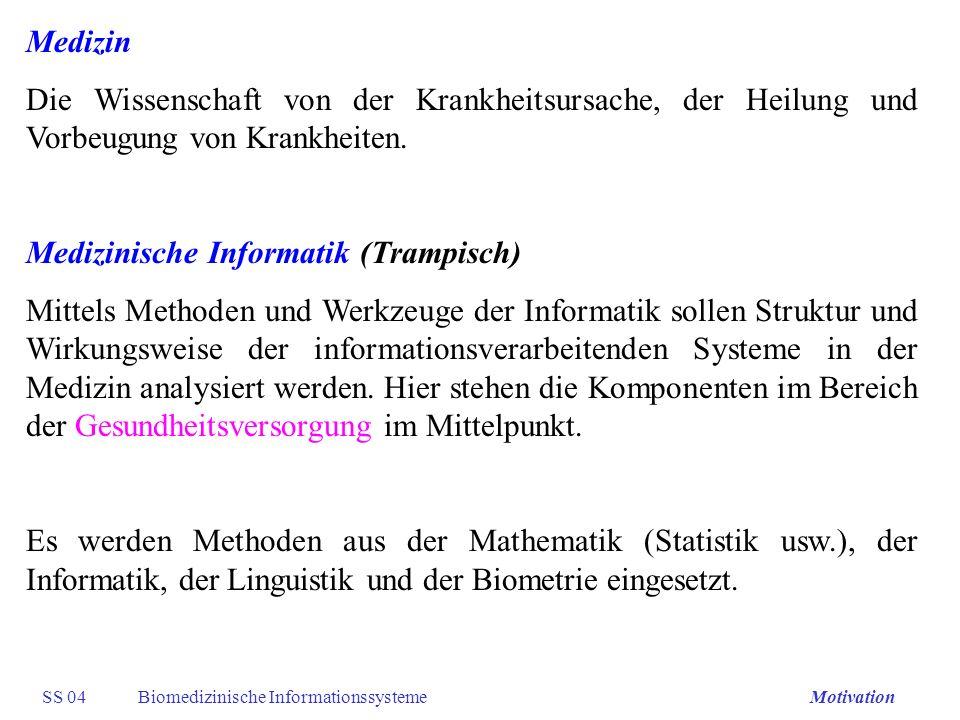 Medizinische Informatik (Trampisch)