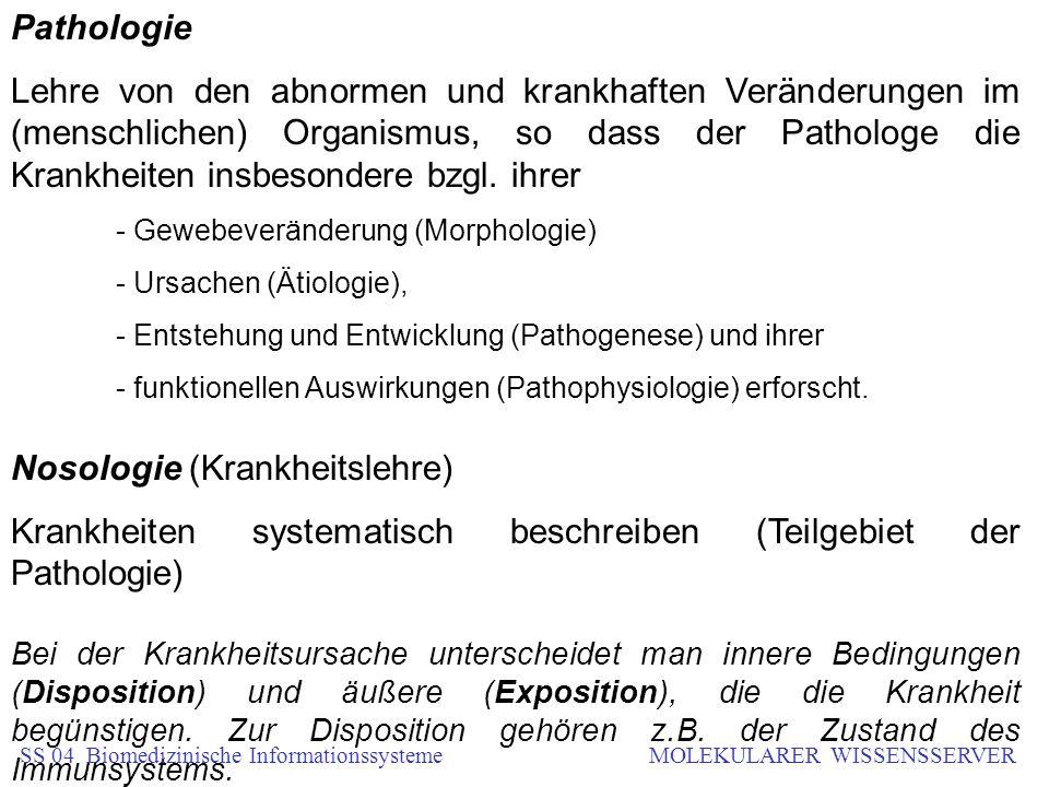 Nosologie (Krankheitslehre)