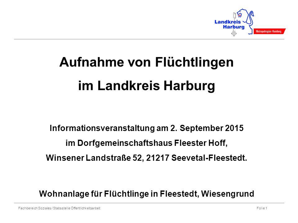 Aufnahme von Flüchtlingen im Landkreis Harburg Informationsveranstaltung am 2.