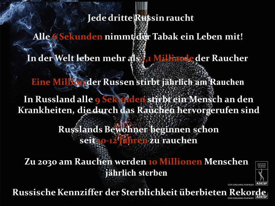 Jede dritte Russin raucht