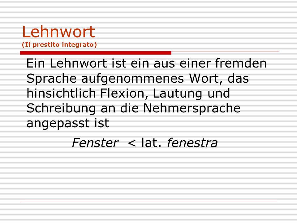 Lehnwort (Il prestito integrato)