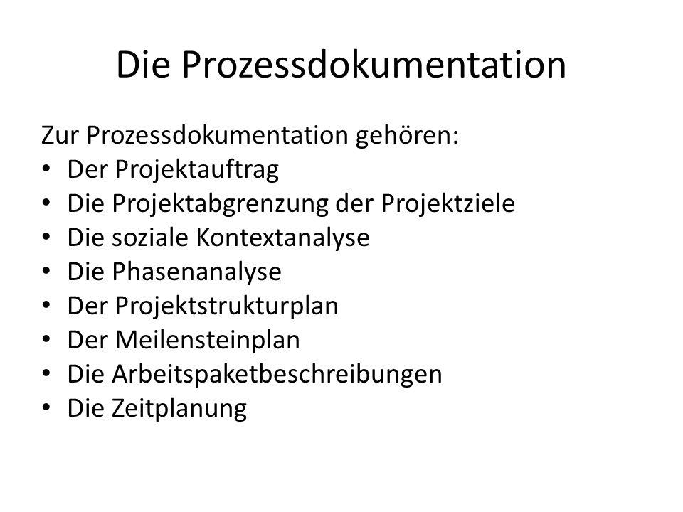 Die Prozessdokumentation