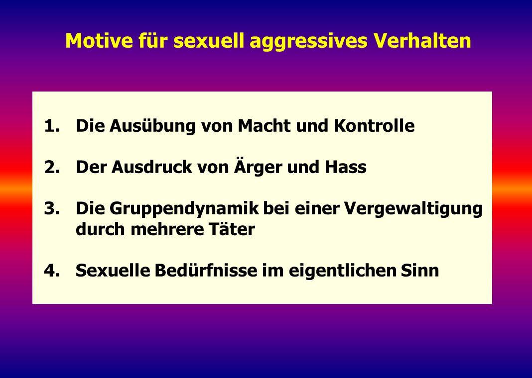 Motive für sexuell aggressives Verhalten
