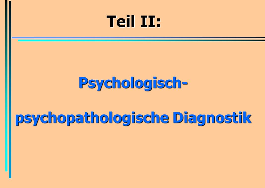 psychopathologische Diagnostik