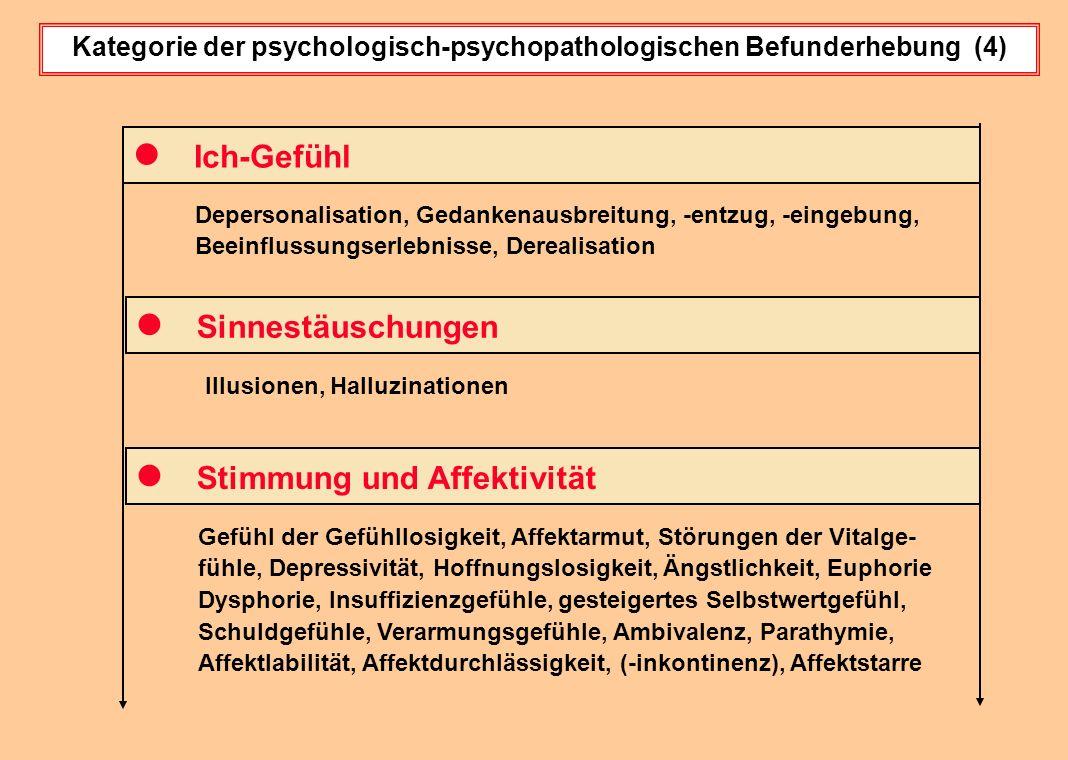 Kategorie der psychologisch-psychopathologischen Befunderhebung (4)