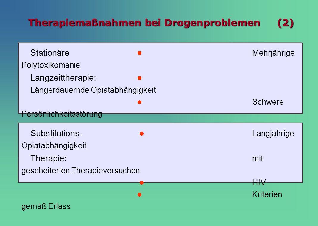 Therapiemaßnahmen bei Drogenproblemen (2)