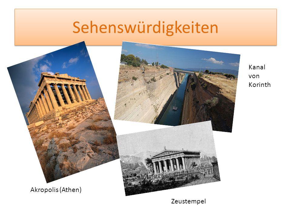 Sehenswürdigkeiten Kanal von Korinth Akropolis (Athen) Zeustempel