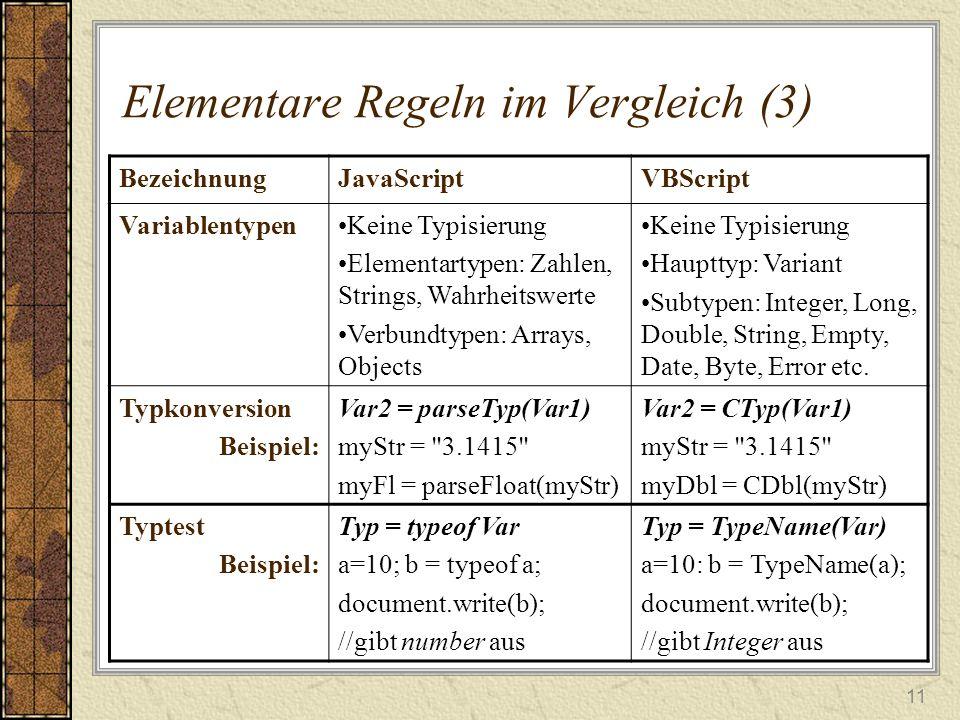 Elementare Regeln im Vergleich (3)