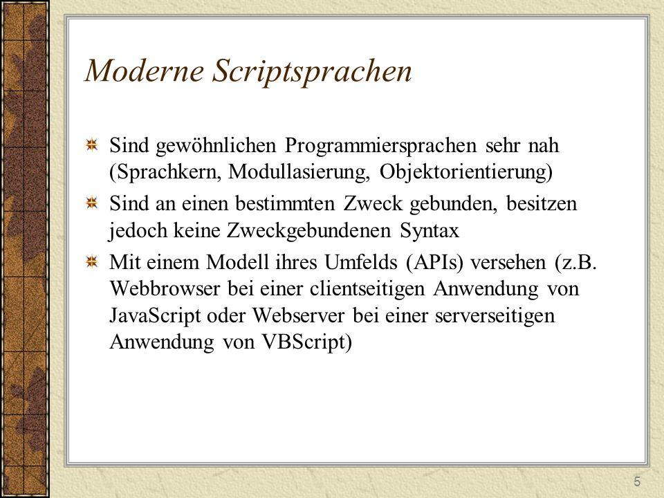 Moderne Scriptsprachen