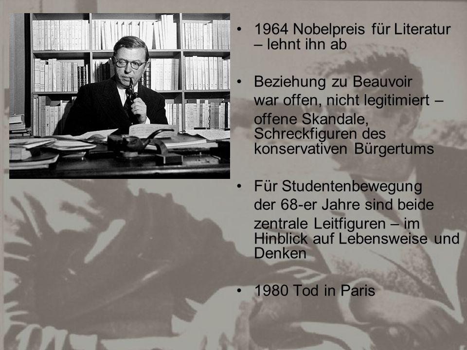 1964 Nobelpreis für Literatur – lehnt ihn ab