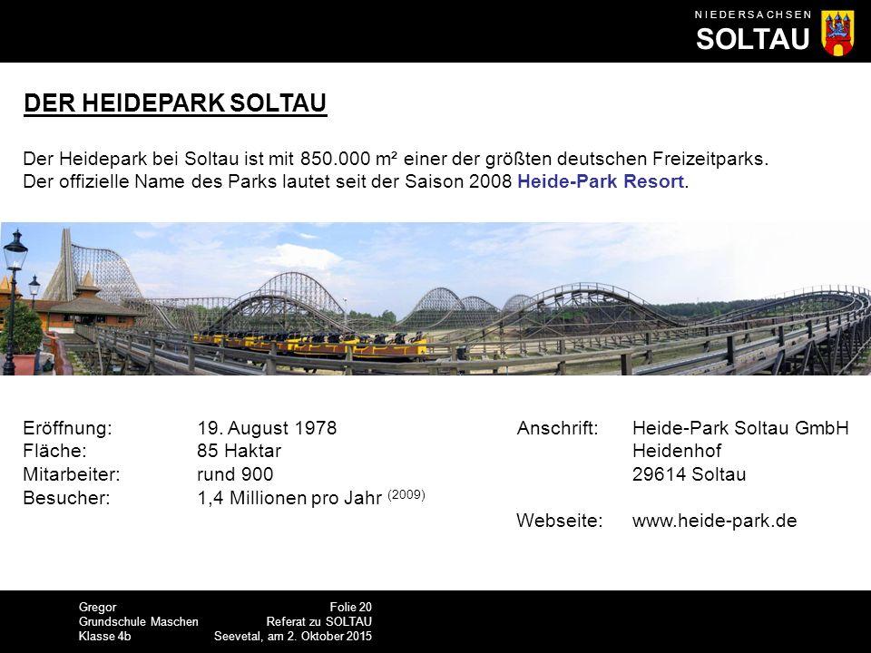 DER HEIDEPARK SOLTAU Der Heidepark bei Soltau ist mit 850.000 m² einer der größten deutschen Freizeitparks.