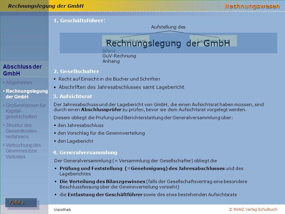 Rechnungslegung der GmbH