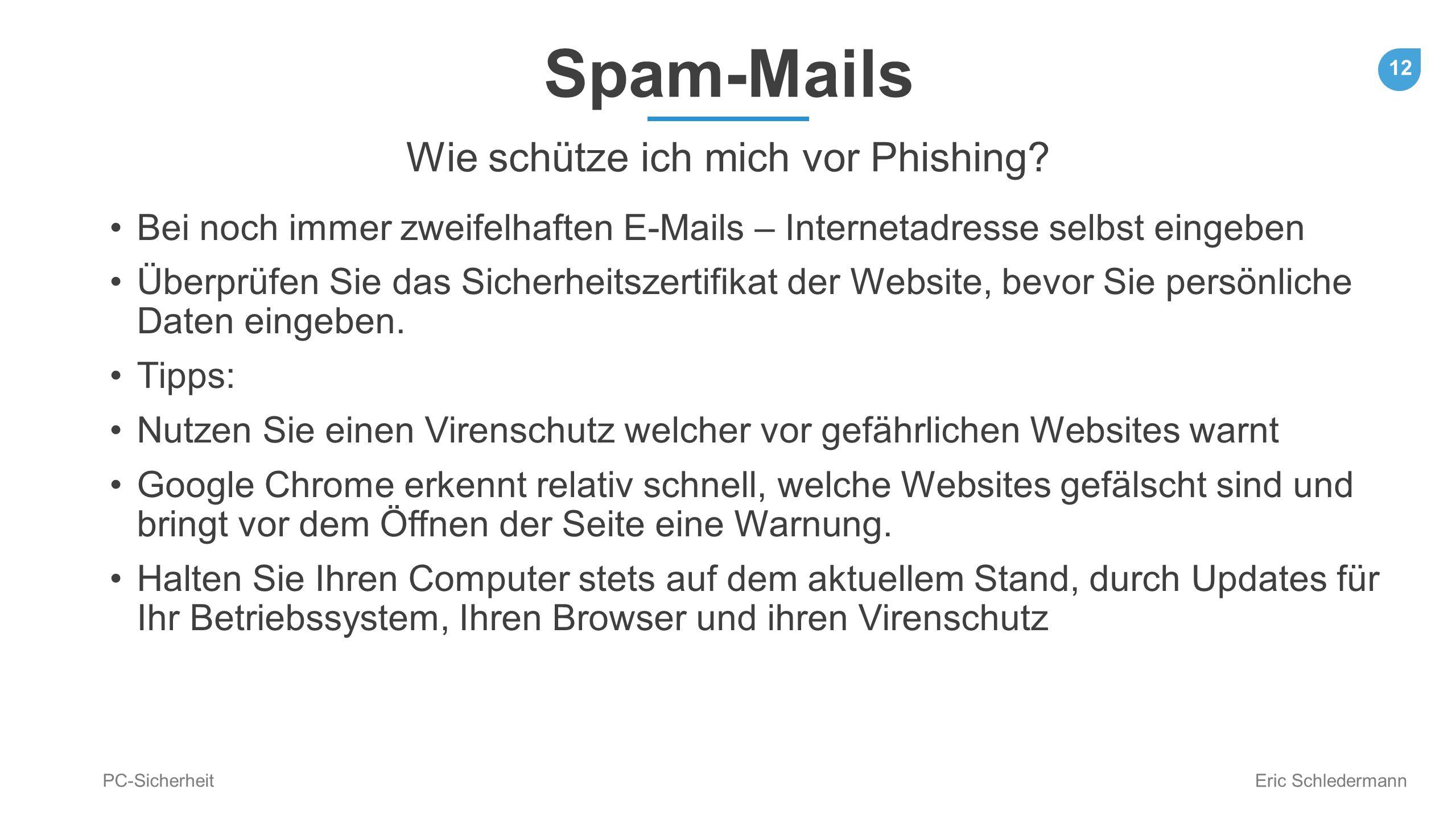 Wie schütze ich mich vor Phishing